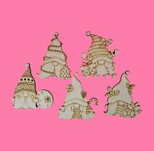 Christmas Gonks Shape Craft Halloween Shape Embellishment MDF Wood Design