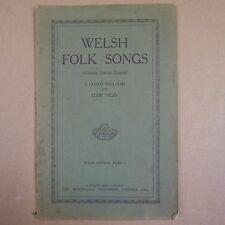 WELSH FOLK SONGS 1 alawon gwerin cymru , lloyd williams / llew tegid , solfa