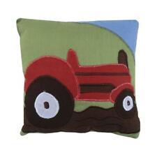 Powell Craft Farmyard Red Tractor Cushion - Nursery Embroidered Cushion