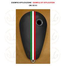 Adesivo serbatoio striscia tricolore italia flag sticker moto tank pvc 1 pz.
