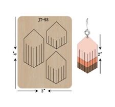 Leather  Earring Cutting  Die / Sizzix Compatible - JT93