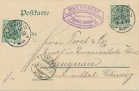 "DEUTSCHES REICH ""LEIPZIG / LINDENAU"" K1 a. 5 Pf Germania GA-Postkarte (ohne Wz.)"