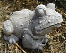 Latex frog mold w plastic backup  toad concrete plaster mould