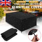 Heavy Duty Patio Furniture Cover Rattan Table Outdoor Garden Uv Waterproof Black