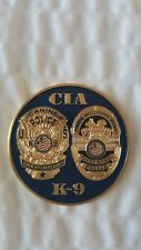 CIA Special Services Branch K-9 Unit Challenge Coin - RARE!!!!!