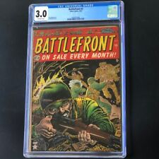 Battlefront #2 (Atlas Comics 1952) 💥 CGC 3.0 OW 💥 Rare Golden Age War Comic!