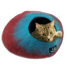Walking Palm Cat Cave Bed - LARGE - Maroon and Teal Color FREE SHIPPING