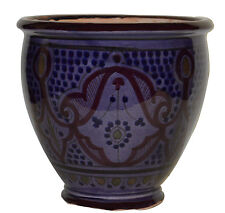 Moroccan Mediterranean Flower Pot Ceramic Terracotta Planter Mexican Purple