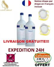 Kit 2X500ml Lissage Brésilien Inoar Perola Eternity Liss+2 Masques de Protection