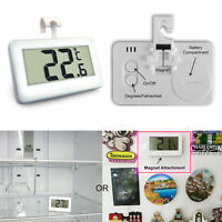 LCD Digital Thermometer Temperature Meter W/Magnet Hook For Refrigerator Freezer