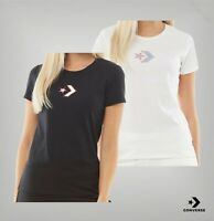 Ladies Converse Short Sleeve Printed Crew Jersey T Shirt Sizes from 6 to 14