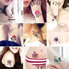 52 Sheets/Set Women Body Art Vivid Flower Butterfly Temporary Tattoo Stickers;-