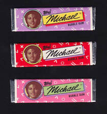 Michael Jackson Lot (3) Chewing Gum TOPPS Bubble Sticks Set Kaugummi 1984 NEW