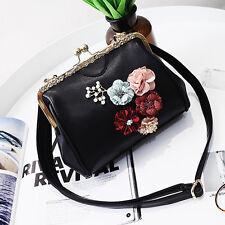 Women 3D Flower Shoulder Satchel Messenger Cross Body Shell Hasp Bag Handbag Fad