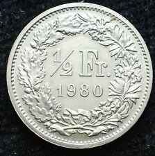 1980   Svizzera Switzerland  1/2 franc
