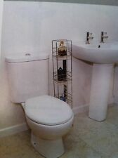 TOILET & BASIN SET, WC & BASIN, now with SOFT CLOSE SEAT.**BARGAIN** MRP £186.19