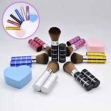 KE_ Retractable Soft Face Cheek Powder Foundation Blush Brush Makeup Cosmetic