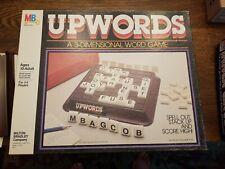Vintage Milton Bradley UPWORDS 3-D Word Board Game 1983 Complete