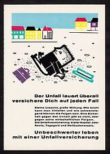 3w921/ Alte Reklame - von 1961 - UNFALLVERSICHERUNG