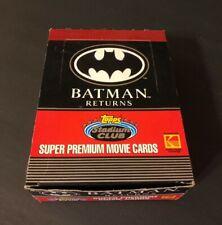 1991 Topps Batman Returns - Movie Photo Cards - Full Box - 36 Packs