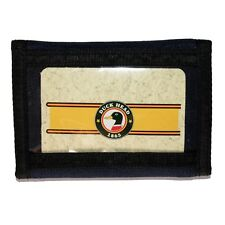 "DUCK HEAD 1865* 4.5"" x 3.25"" TRIFOLD WALLET Hook+Loop Closure NAVY+BLACK Window"