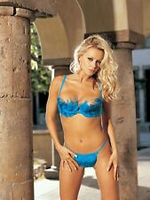 Shirley of Hollywood Women 32 34 38 Blue Demicup Bra and Thong Designer Lingerie