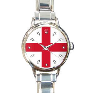 Femmes Angleterre Drapeau Italien Breloque Pays Anglais Montre Bracelet Quartz