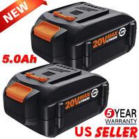 2x For WORX WA3575 20V PowerShare 5.0Ah Replacement Battery WA3520 WA3525 WA3578