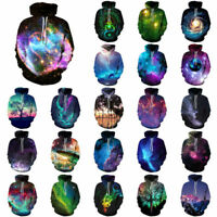 Women's Men Hoodie Galaxy 3D Print Sweater Sweatshirt Jacket Coat Pullover Tops