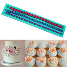 Pearl String Cake Mold Decor Fondant Bead Baking Silicone Mould Pastry Edge DIY