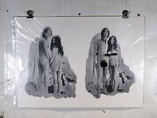Vintage Print John Lennon Yoko Ono Beatles Nude Album Art Print Poster 17 x 25