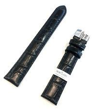 cinturino orologio Morellato in pelle imbottito stampa cocco nero 18 20 22 mm