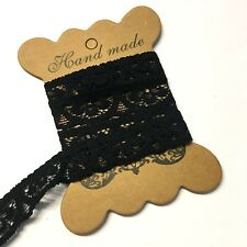 5 metres, black flat 17mm lacy knicker elastic, stretch lace