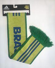 Adidas Soccer Brasil National Team 3 Stripe Home Scarf Green Yellow Blue New