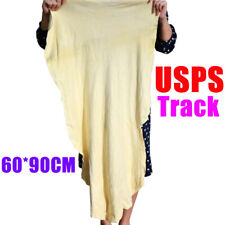 USPS Delivery 60x90cm Large Natural Leather Chamois Car Drying Towel