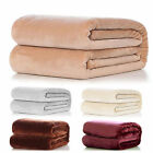 Washable Warm Super Soft Large Fleece Sofa Bed Cover Blanket Throw 1pc