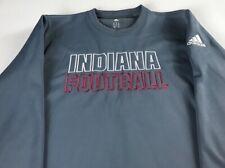 Indiana Hoosiers Football Long Sleeve Mens Medium Adidas Climawarm Sweatshirt