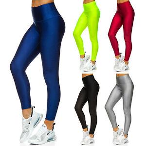 Leggings Leggins Sporthose Trainingshose Fitness Basic Damen Mix BOLF Unifarben