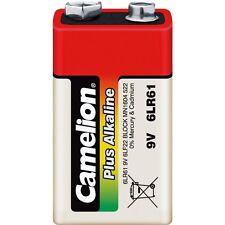 Lot 1 pilas/batería Camelion Alcalina Plus 9V 6LF22 bajo celofán