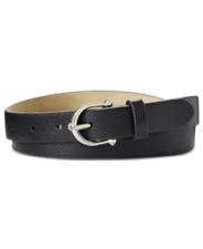 Inc International Concepts Knob Buckle Pant Skinny Belt Black, Size Medium, $28