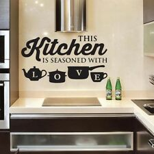 Creative KITCHEN Wall Sticker Vinyl Removable Decal Art Mural Kitchen Decor