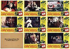 ½ LITRO DI ROSSO PER IL CONTE DRACULA SET FOTOBUSTE 8 PZ EROTICO 1971 LOBBY CARD