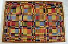 Mid Century Modern Swedish Scandinavian Flat Weave Wool Area Rug 1960s