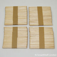 Wooden Lolly / Lollipop Sticks for Crafts & Model Making Hobbies - Quantity 200