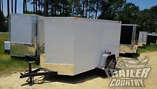 New 2021 5 X 8 5x8 V Nosed Enclosed Cargo Motorcycle Trailer With Rear Swing Door