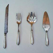 4 Webster Sterling Silver Serving Set Flatware 2 Forks Pie Server Knife
