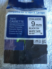 1 Brother TZ S221 BLACK WHITE Label Tape Compatible TZe 221 26 ft 9mm