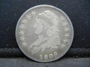 1809 Bust Half Dollar F/VF Early Date