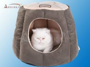 Armarkat Cat Bed, Laurel Green and Beige