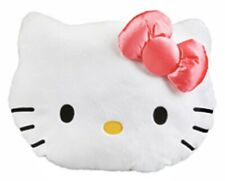 "Sanrio Hello Kitty Face Cushion Round 12"" Pillow Bedding Home Deco: Pink Bow"